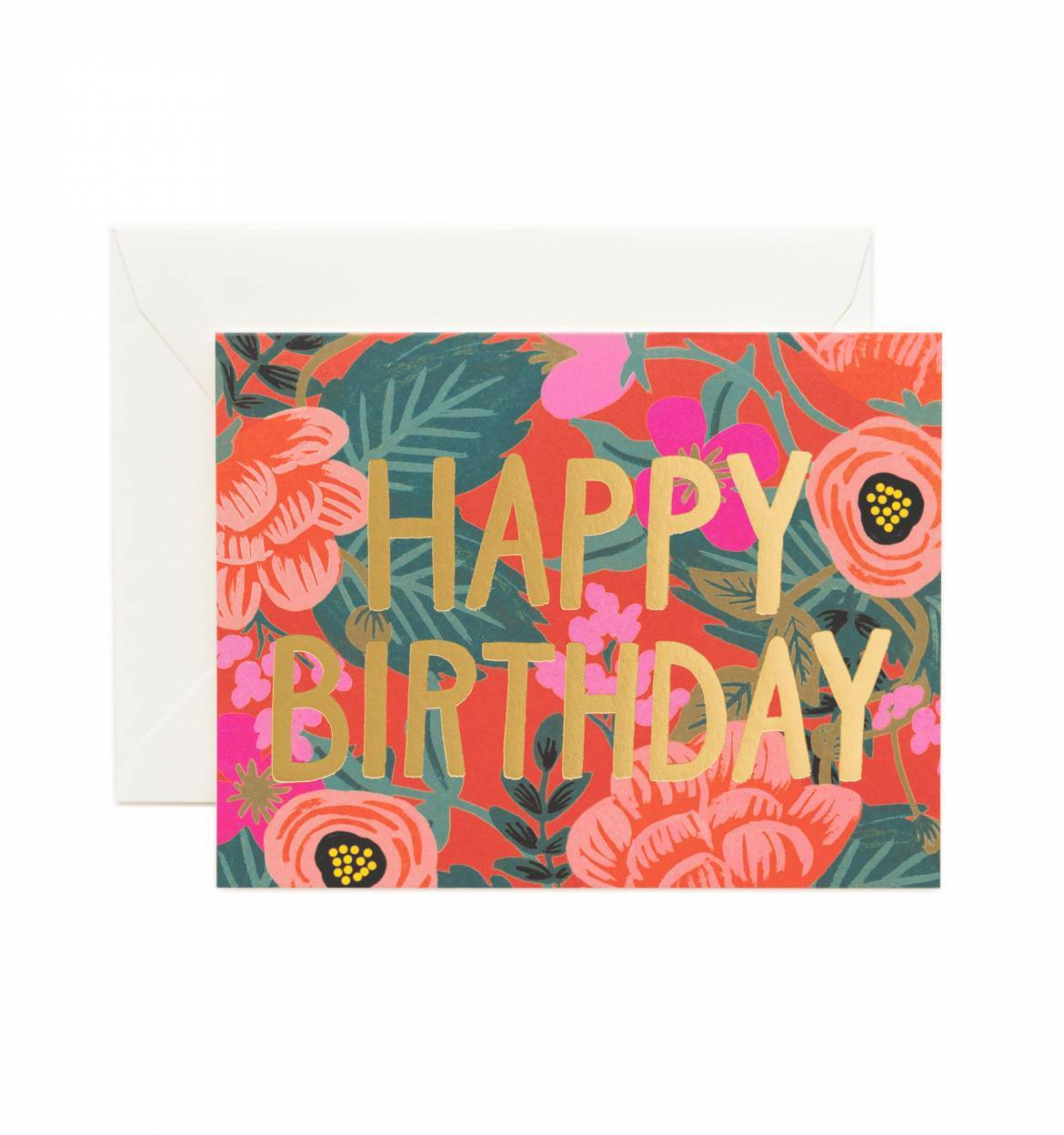 "Say ""Happy Birthday"" with this adorable lush Poppy Birthday Card from Rifle Paper Co."