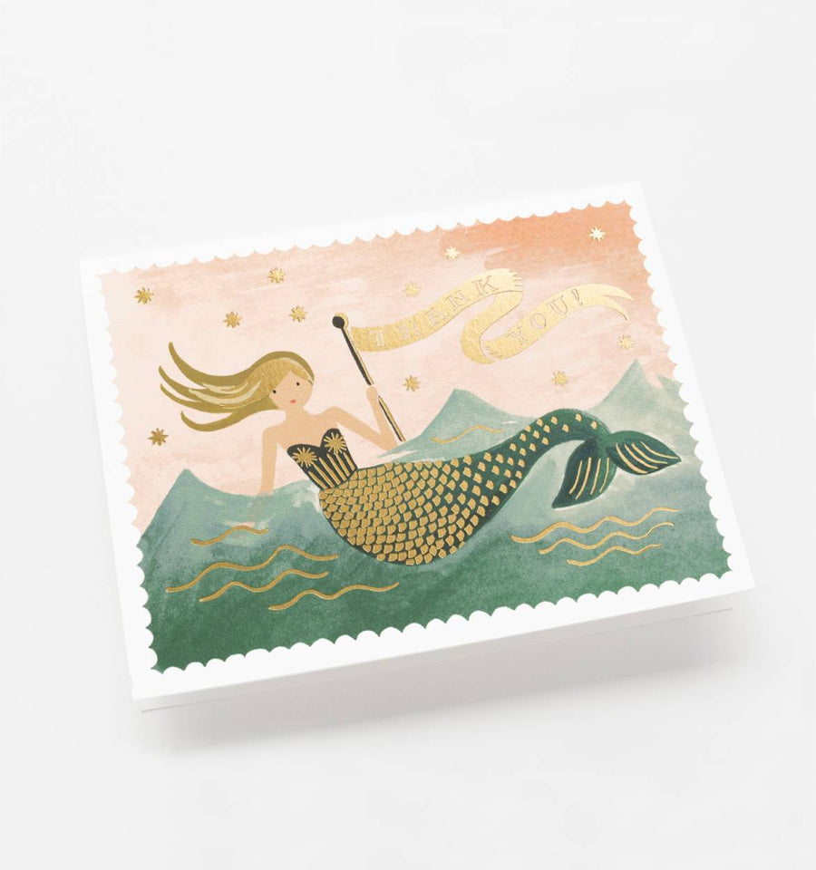 Vintage Mermaid Thank You Card