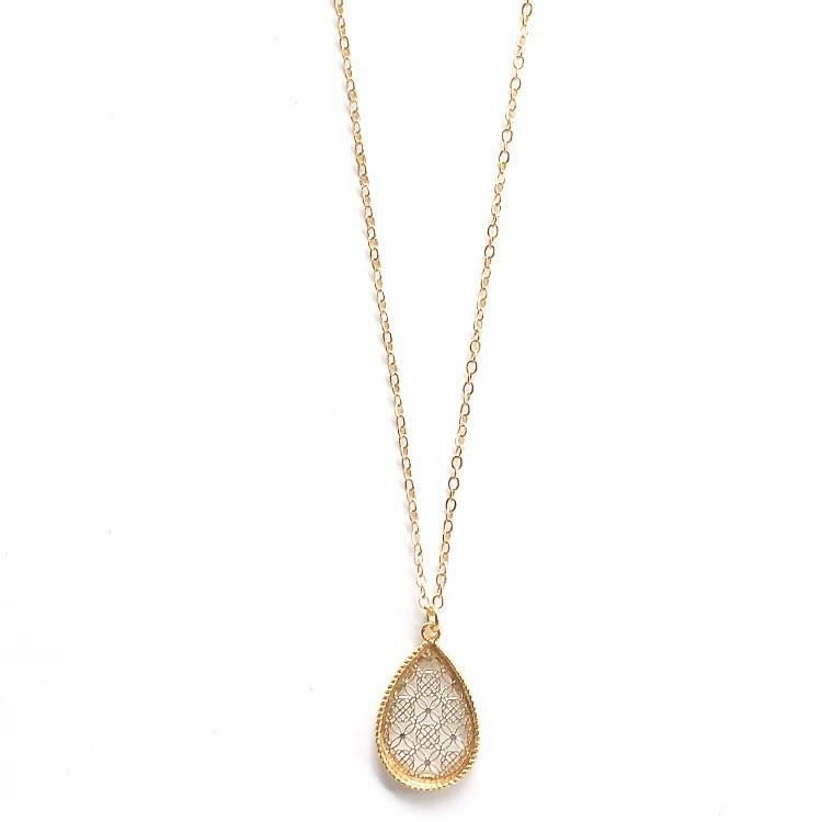 Small Pendant Necklace Gold and Silver