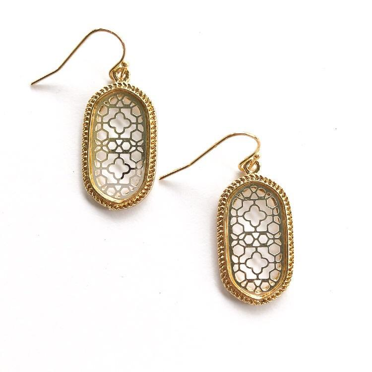 Lizie Earrings Gold and Silver