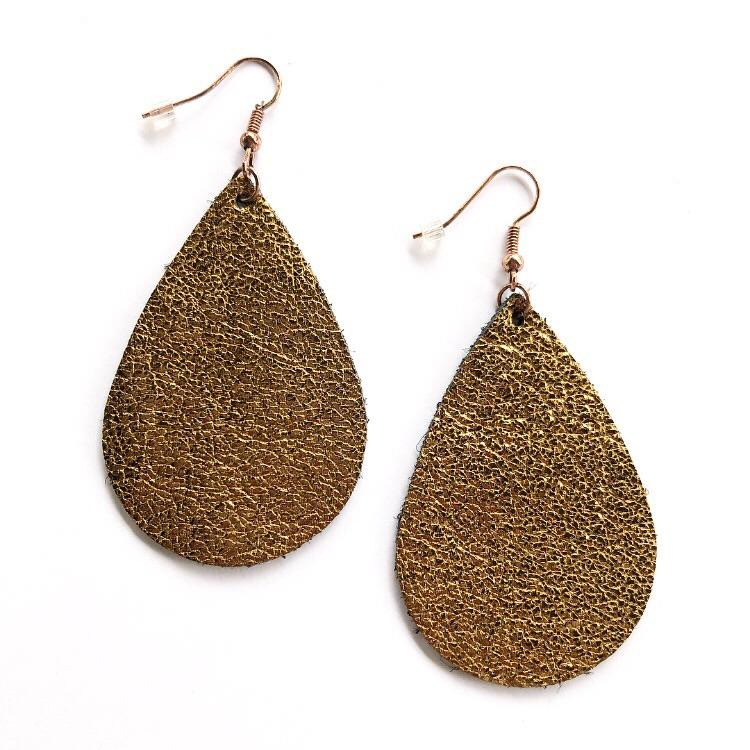 VL Teardrop Earrings Bronze