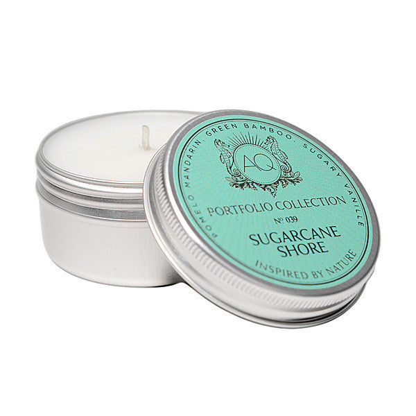 AQUIESSE SUGARCANE SHORE SOY TRAVEL TIN CANDLE, Gifts - Aquiesse - {a} haley boutique