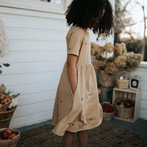 Youth Daphne Dress | Honeycomb