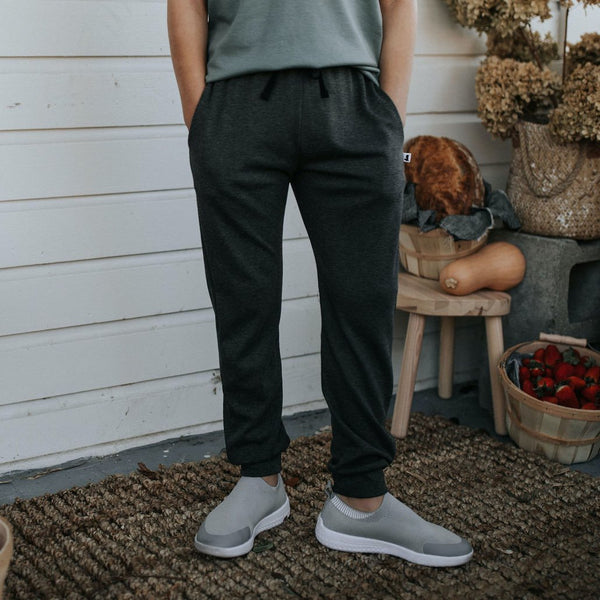 Youth Drawstring Joggers | Charcoal