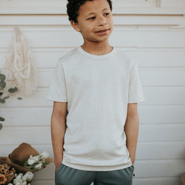 Youth Bamboo/Cotton T-Shirt | Ash