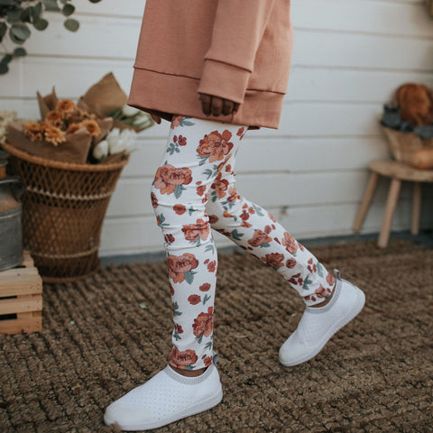 Youth Leggings | Peony