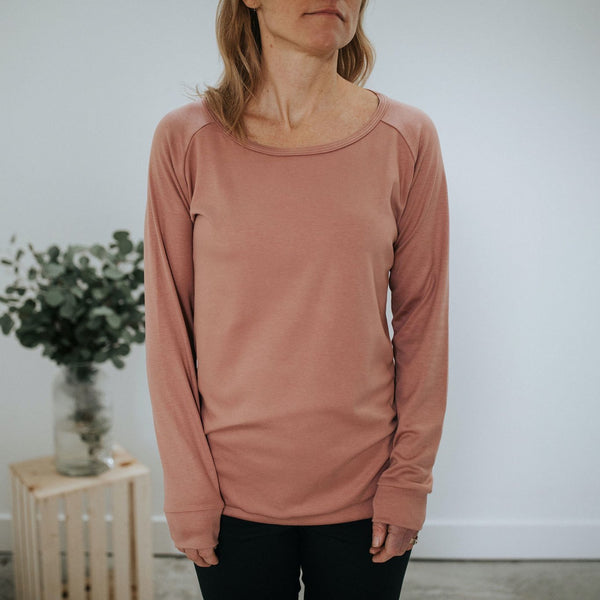 Women's Bamboo/Cotton Pullover | Terracotta