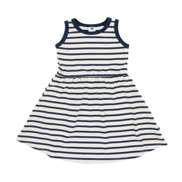 Baby/Kid's Tank Dress | Navy Stripe