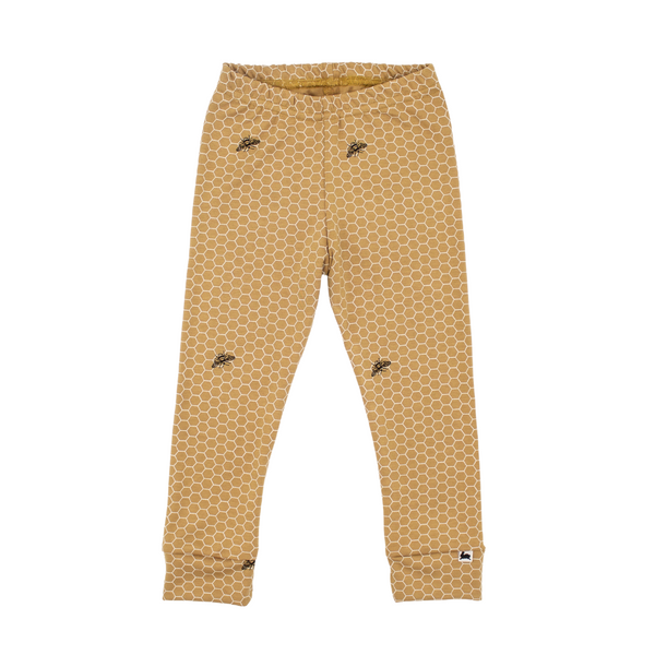 Baby/Kid's Bamboo/Cotton Leggings | Honeycomb