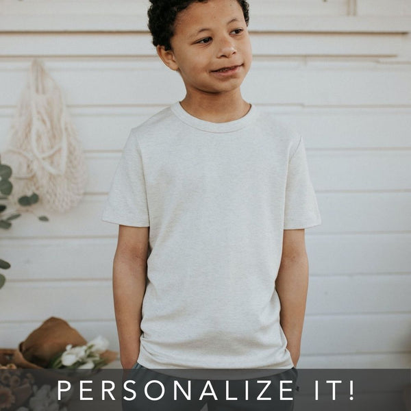 Youth Personalized T-Shirt | Ash | PRE-ORDER