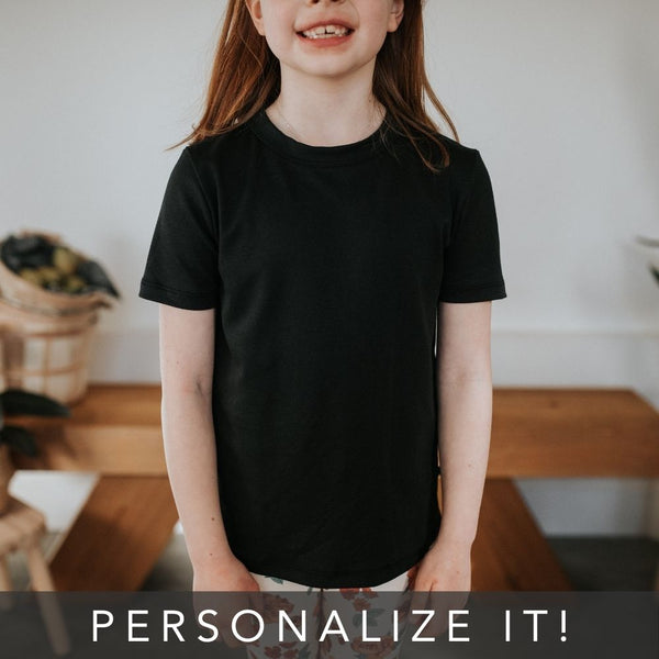 Youth Personalized T-Shirt | Black | PRE-ORDER