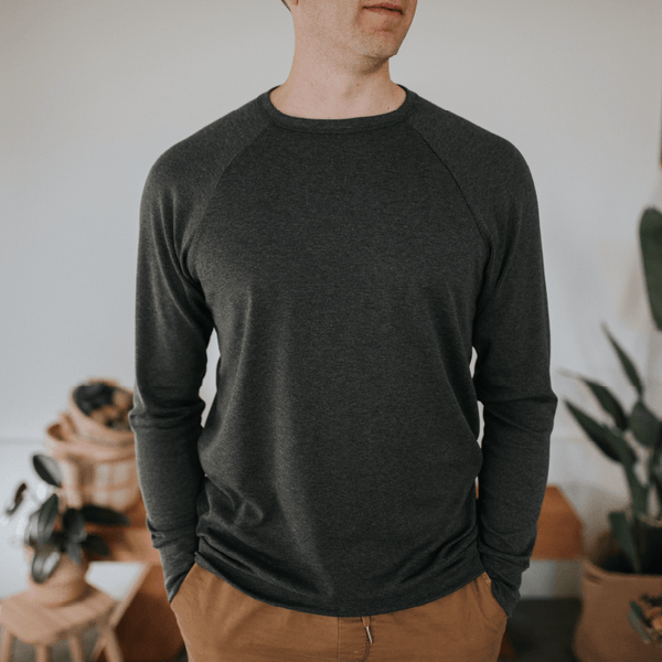 Adult Unisex Bamboo/Cotton Pullover | Charcoal