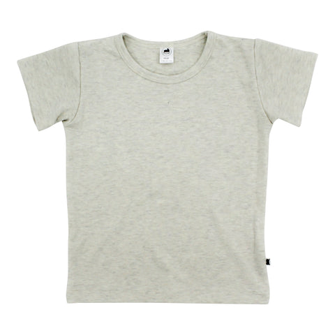 Baby/Kid's Bamboo/Cotton T-Shirt | Ash (1531841970199)