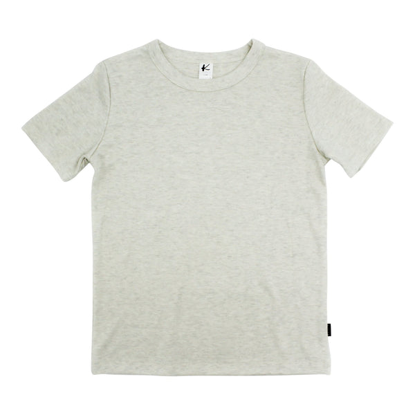 Youth Bamboo/Cotton T-Shirt | Ash (1531823652887)