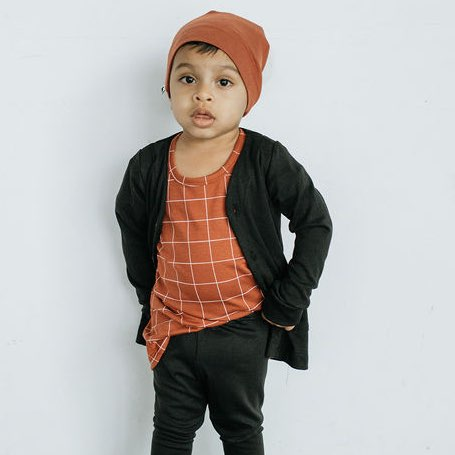 Baby/Kid's Bamboo/Cotton T-Shirt | Grid On Brick