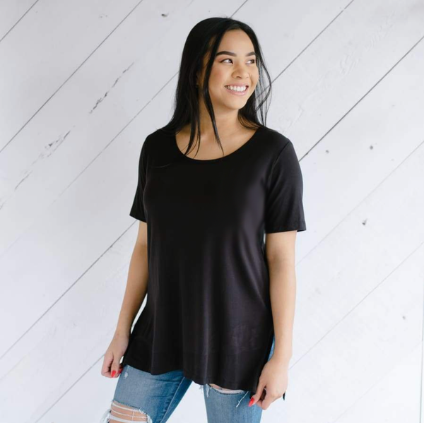 Women's Side-Slit Tunic | Black