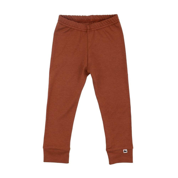 Baby/Kid's Bamboo/Cotton Leggings | Brick