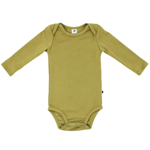 Long Sleeve Baby Onesie | Moss