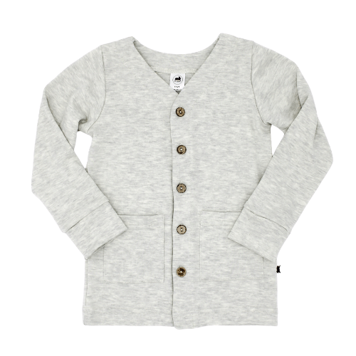 Baby/Kid's Bamboo/Cotton Cardigan | Ash