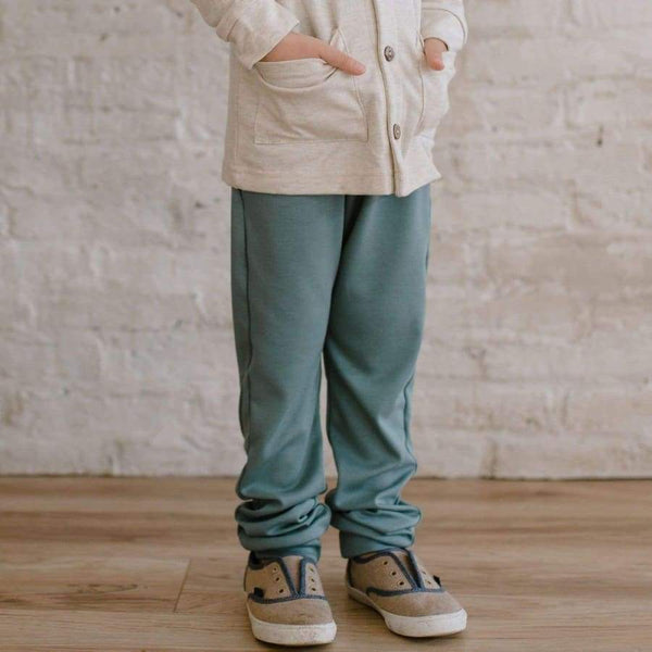 Baby/Kids Drawstring Joggers | Eucalyptus | SS19 kids joggers Little & Lively Canada (1531430731799)