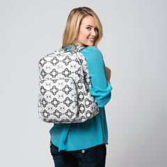 diaper backpack on model