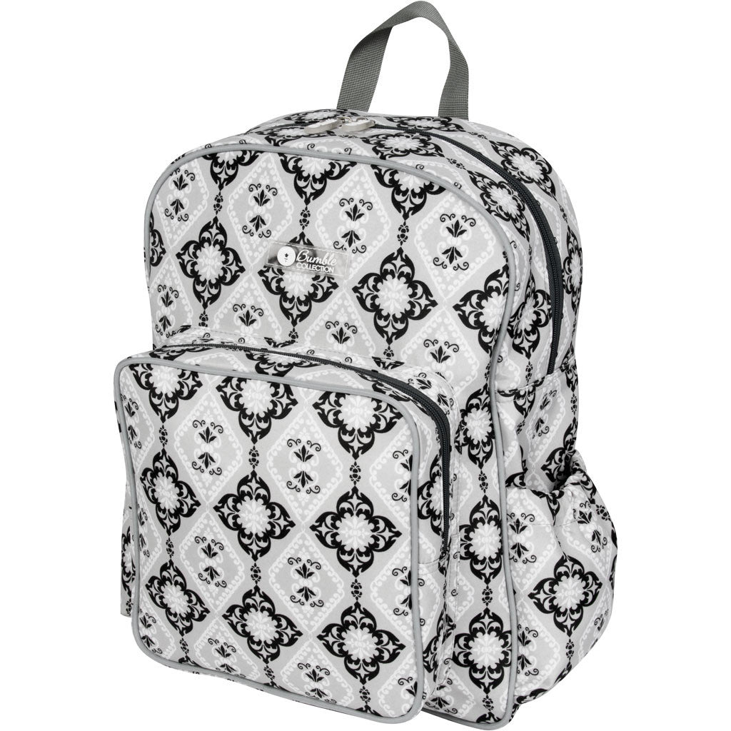 diaper backpack in grey