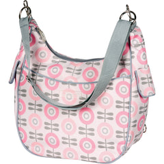 diaper bag convertible in pink
