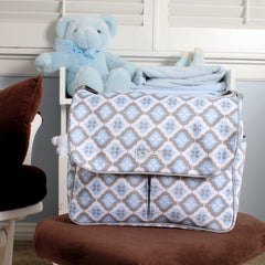 Amber Tote in Sky Blue Montage