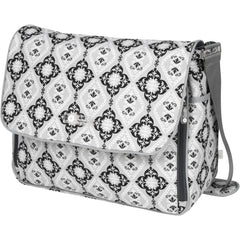 diaper messenger bag in grey