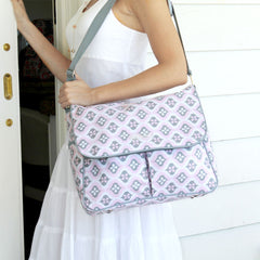 Amber Tote in Sweet Blush Montage
