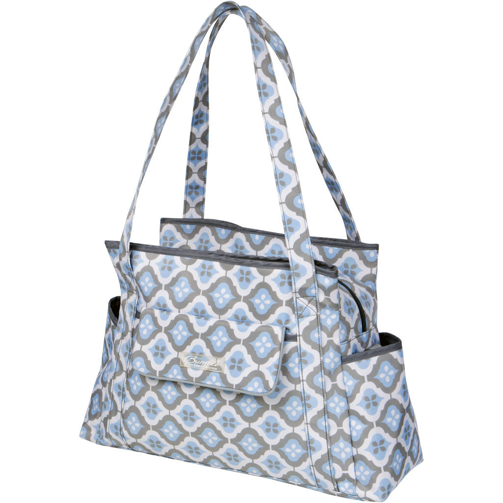 diaper bag tote in blue