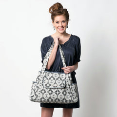 diaper bag tote on model