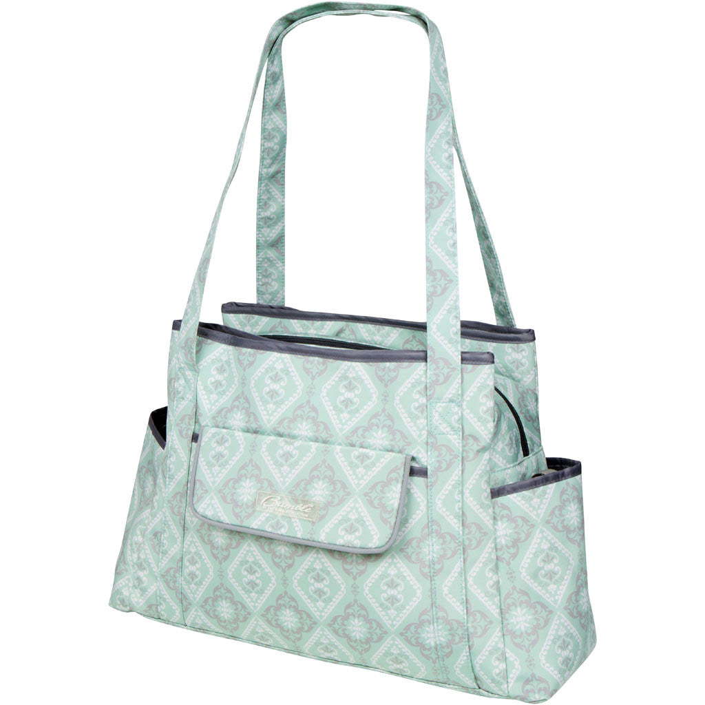 diaper bag tote in mint