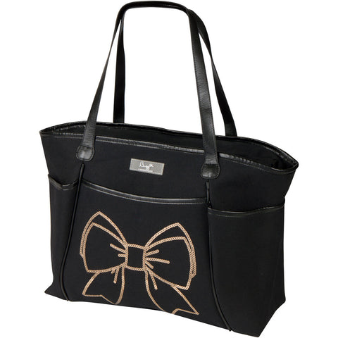 Bow Sequin Zipper Tote