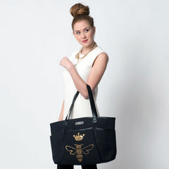 Queen Bee Sequin Zipper Tote