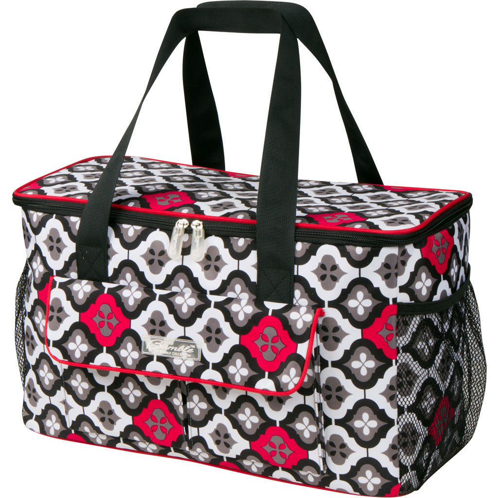 picnic cooler in red