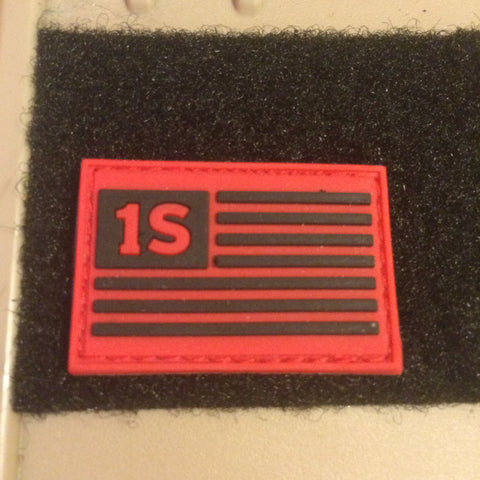 "1S Flag — 1.5""x1"" PVC Patch"