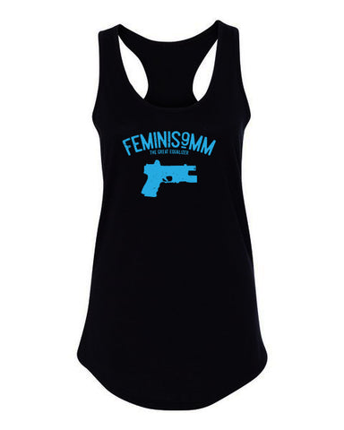 Feminism - Ladies Racerback Tank Top