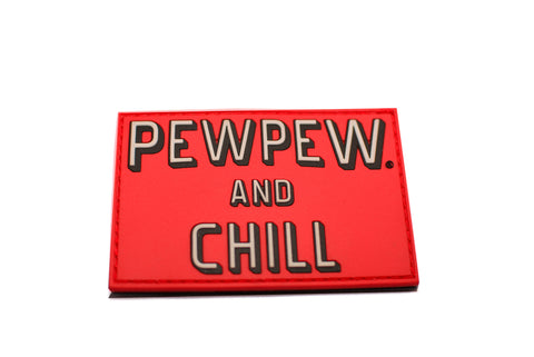 "Pew Pew® And Chill - 3""x2"" PVC Patch"