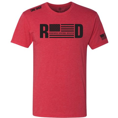 R.E.D (Remember Everyone Deployed) - Tri Blend Standard Shirt