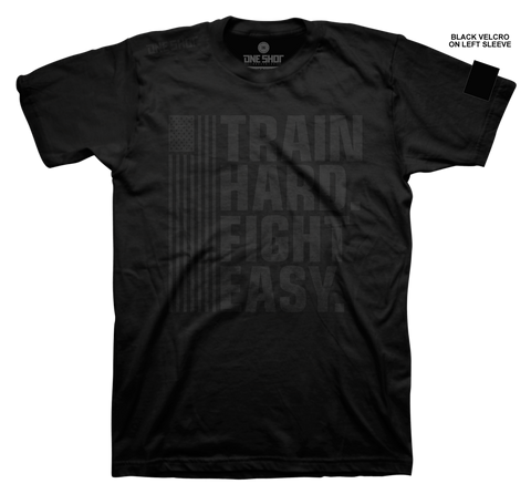Train Hard Fight Easy (with sleeve velcro)