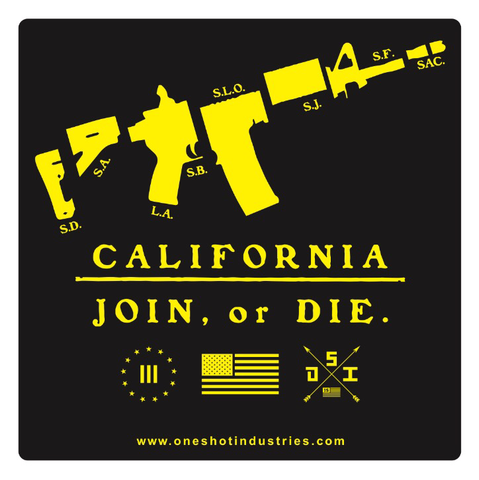 California Join Or Die - Sticker