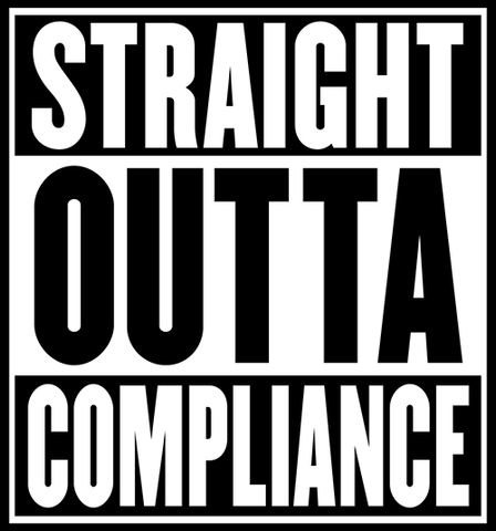 Straight Outta Compliance - PVC Patch
