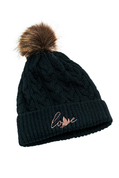 Cable Knit LOVE Toque