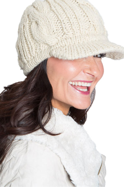 Ladies HRM Cable Knit Toque with Brim