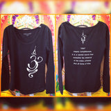 "Mind-Body-Soul Long Sleeve Top ""Ohm"" Black"