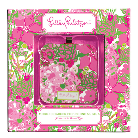 Lilly Pulitzer iPhone 5 Portable Charger in Beach Rose