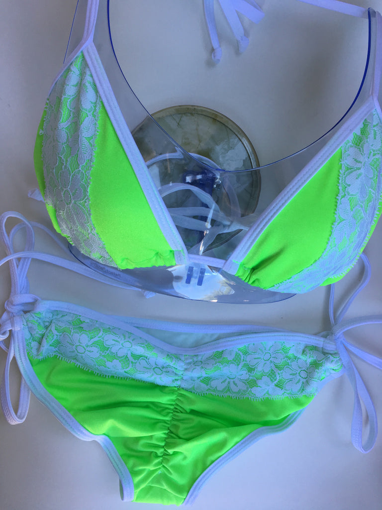 Taylor Neon Green & White TOP