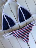 Patriotic Striped Mia Double Braided Bottom