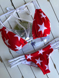 Red & White Stars Reversible Braid Bottom